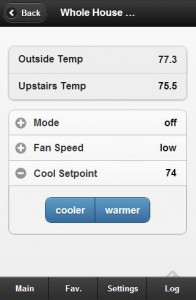 MisterHouse Web Interface for a Temperature Controlled Whole House Fan